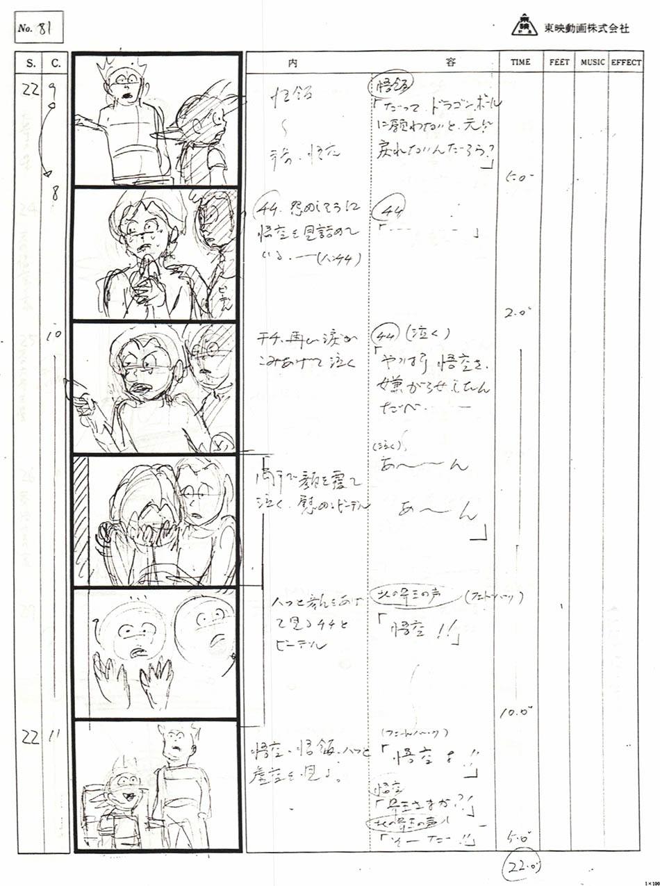 Dragon Ball GT No 1 Storyboard  & script