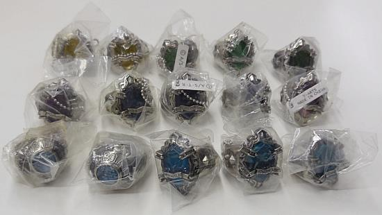 Katekyo Hitman Reborn New Vongola Ring 15 Pieces Set Takara
