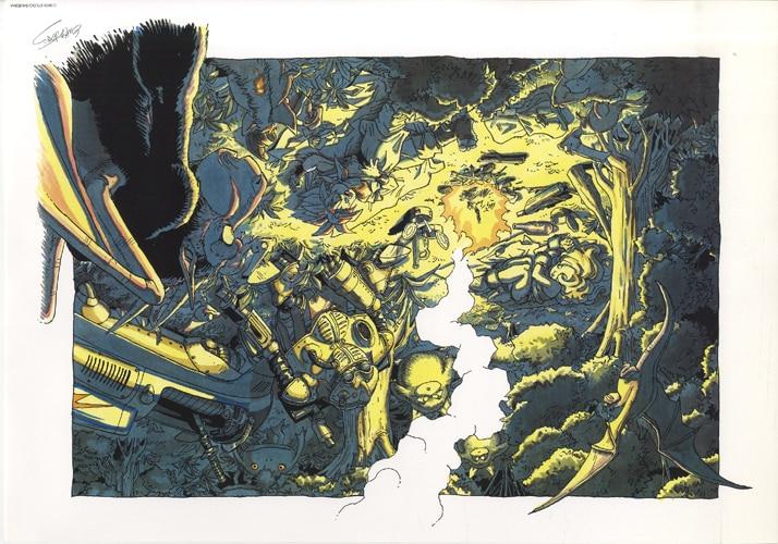 鳥山明 カラー複製イラスト E クロノトリガー