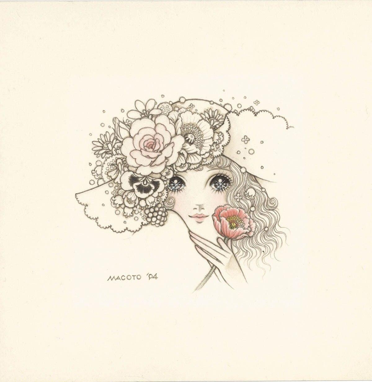 高橋真琴直筆カラーイラスト