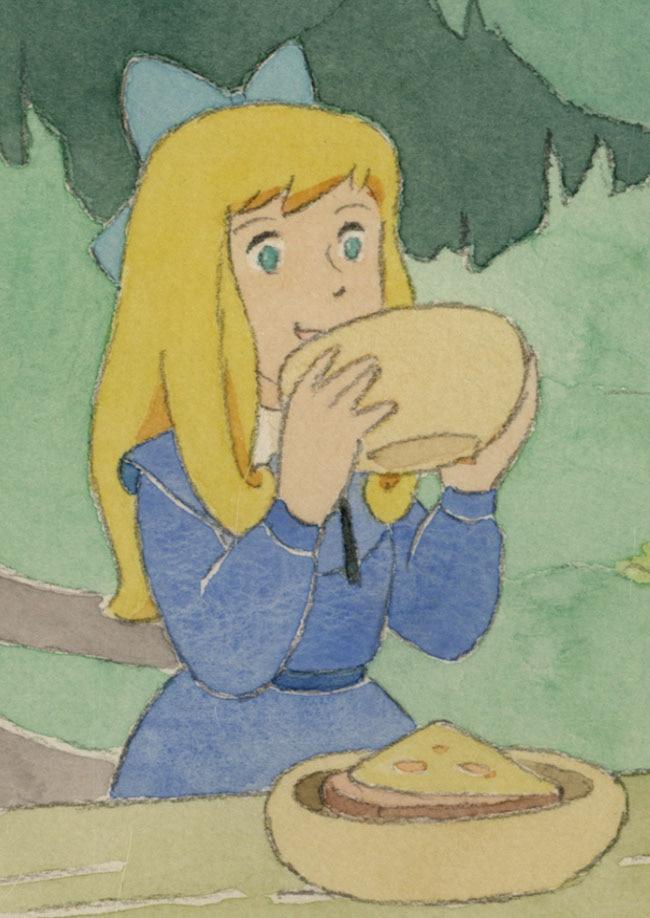 小田部羊一直筆カラーイラストアルプスの少女ハイジ