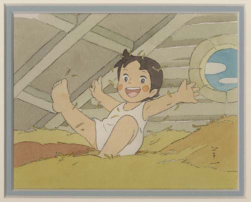 小田部羊一直筆イラストアルプスの少女ハイジ干し草のベッド