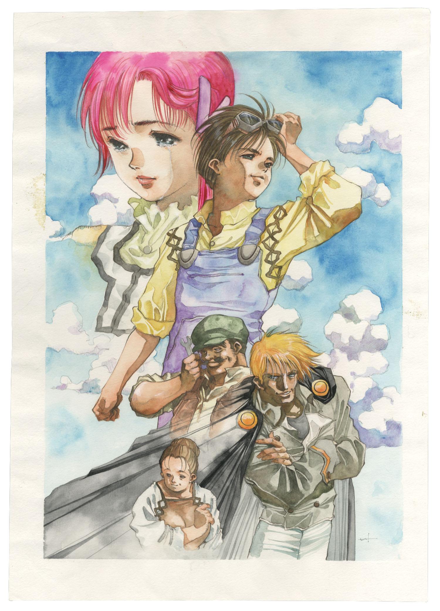 美樹本晴彦直筆カラーイラスト超時空世紀オーガス02