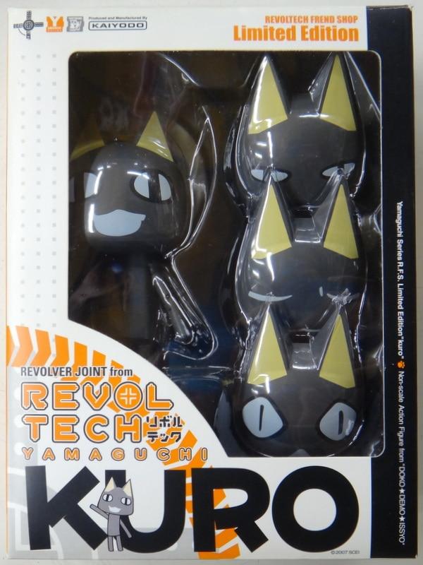 NEW Revoltech Yamaguchi No.29 Doko Demo Issyo KURO Figure KAIYODO Japan F//S