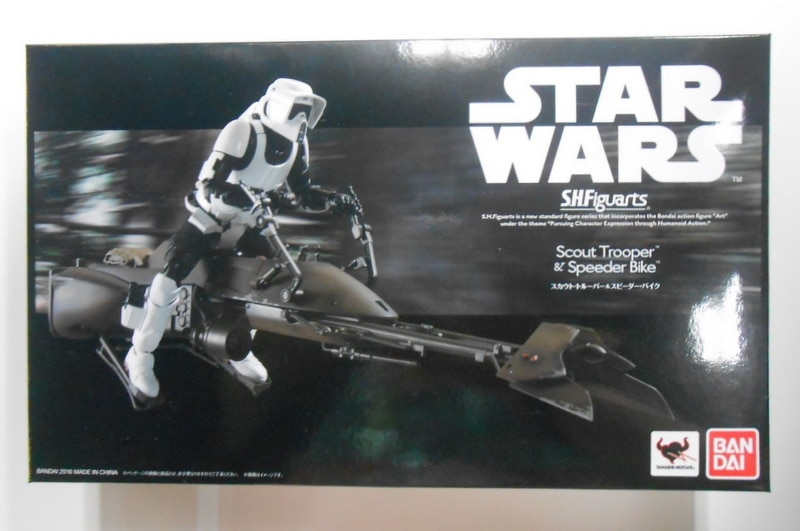 BANDAI S.H.Figuarts Star Wars Scout Trooper /& Speeder Bike set Japan Import F//S