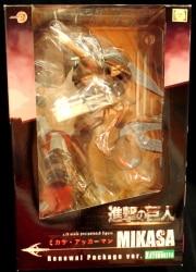 PVC Figure Japan USED Good Smile Attack on Titan Mikasa Ackerman DX Ver