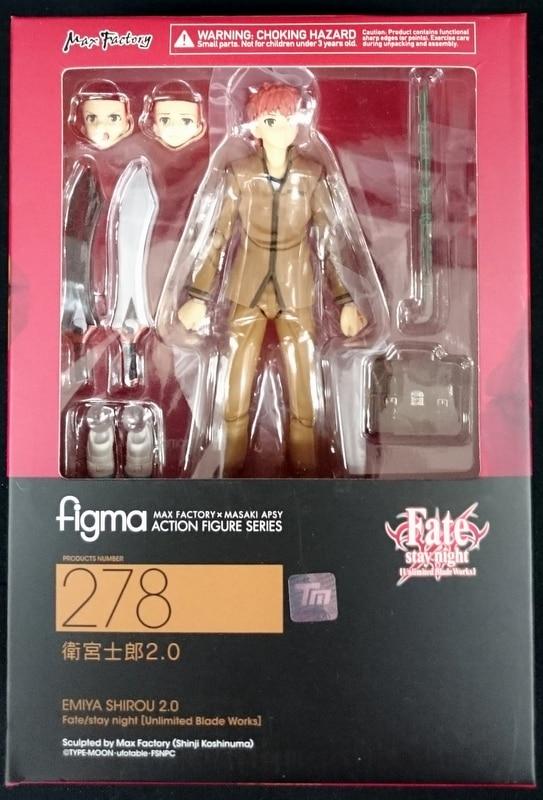 2.0 Figma Action Figure # 278 Max Factory FATE//STAY NIGHT Shirou Emiya Ver