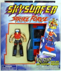 AND HIS SKY SURFING VEHICLE