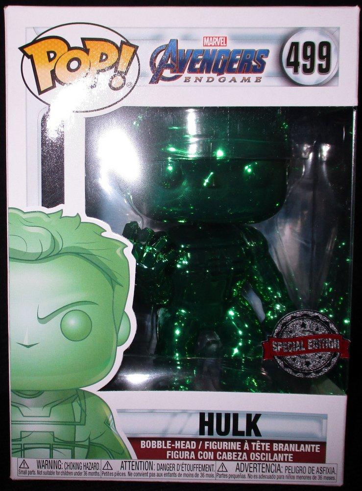 Funko Pop Hulk 499 Marvel Hulk Green Chrome MCM 2019 Limited Edition **NEW**